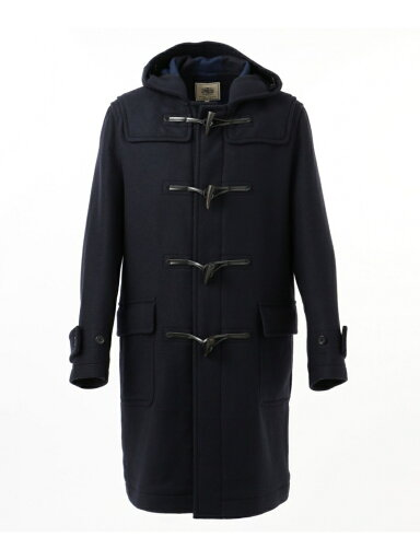 J. Press Back Block Check Melton Duffle Coat COOVKW0413: Navy