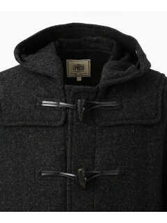 J. Press Back Block Check Melton Duffle Coat COOVKW0413: Grey