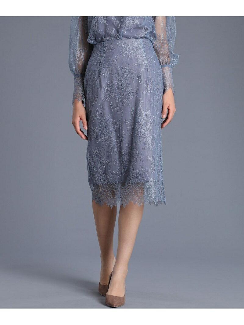 ef-de 《MaglieWhite》レースタイトスカート【MORE3月号掲載】 エフデ スカート タイトスカート ブルー ブラック【送料無料】