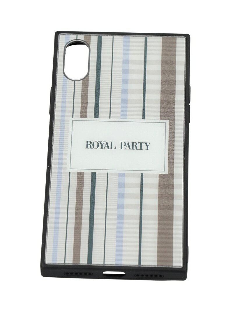 915b992503 ROYALPARTY/ORIGINAL CHECK BLUE iphoneX/Xs ギズモビーズ ファッショングッズ