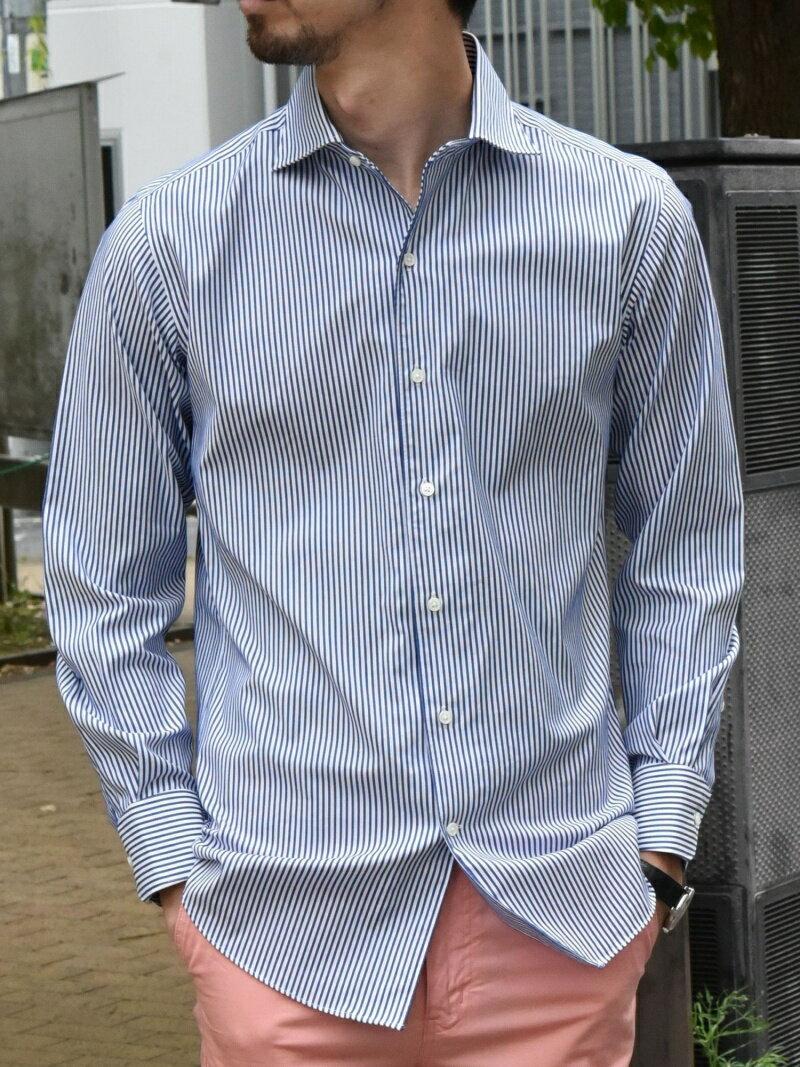 SHIPS SD: イージーアイロン ロンスト ワンピースカラー シャツ シップス シャツ/ブラウス 長袖シャツ ネイビー【送料無料】