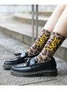 X-girl MILLS LOGO RIB SOCKS エックスガール ファッショングッズ ソックス/靴下 ベージュ ブラック ホワイト