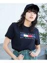 【SALE/10%OFF】TOMMY HILFIGER 【オンライン限定】ボックスロゴTシャツ トミーヒルフィガー カットソー Tシャツ ブラック ホワイト・・・