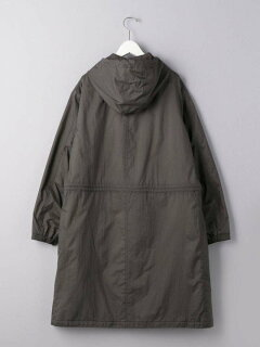 Padded Hooded Coat 1125-699-7547: Dark Grey