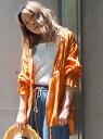 【SALE/70%OFF】LIPSTAR 2WAY楊柳ブラウス リップスター シャツ/ブラウス シャツ/ブラウスその他 オレンジ ブラック ベージュ