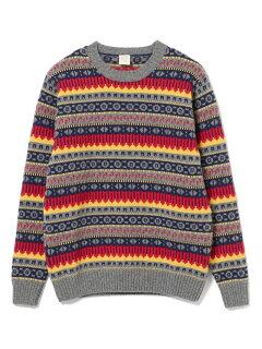 Country of Origin Fairisle Lambswool Sweater 51-15-0450-012: Yellow
