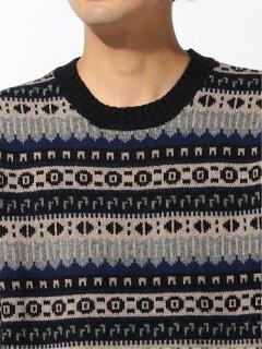 Country of Origin Fairisle Lambswool Sweater 51-15-0450-012: Navy