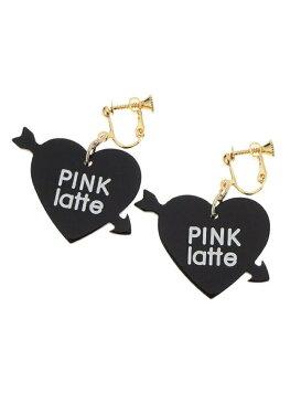 PINK-latte ハートアロー樹脂イヤリング ピンク ラテ アクセサリー イヤリング ブラック レッド パープル