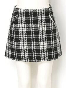 【送料無料】【30%OFF】dazzlin 【dazzlin】 ウールチェック台形スカート ダ…