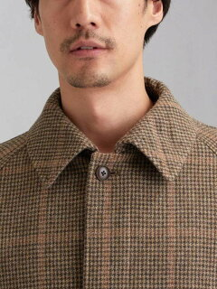 Tweed Raglan Coat 3125-199-0527: Brown