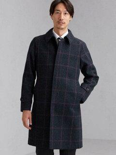 Tweed Raglan Coat 3125-199-0527: Navy