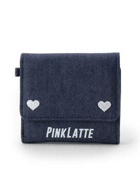 PINK-latte ハートミニ財布 ピンク ラテ 財布/小物