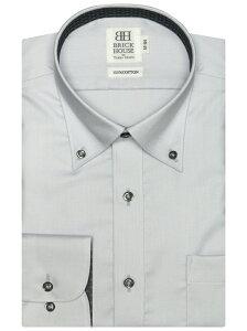 BRICK HOUSE by Tokyo Shirts (M)抗ウイルス加工 形態安定ノーアイロン ボタンダウン 長袖ビジネスワイシャツ ブリックハウスバイトウキョウシャツ シャツ/ブラウス ワイシャツ グレー【送料無料】