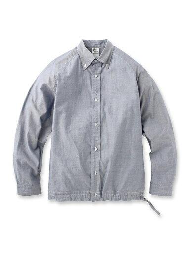 Supima Oxford Drawstring Buttondown Shirt 086-58502: Navy
