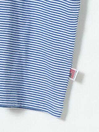 【SALE/70%OFF】coen SUNNYSPORTS(サニースポーツ)別注USAコットンヘンリーネックボーダーTシャツ コーエン カットソー Tシャツ ブルー ベージュ【RBA_E】