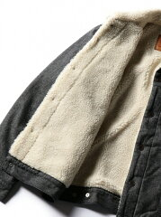 Levi's The Sherpa Trucker Jacket 16365: 0051 Carbon Brushed Twill