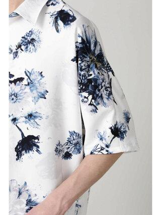 TORNADO MART TORNADOMART∴ビザールフラワープリントドルマンシャツ トルネードマート シャツ/ブラウス 半袖シャツ ブルー ネイビー グリーン【送料無料】
