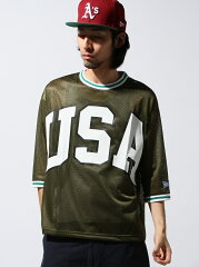 VOTE MAKE NEW CLOTHES MESH RIB TEE(USA)