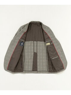 J. Press A.W.C. Glen Plaid Sack Blazer BZOVKM0005: Black