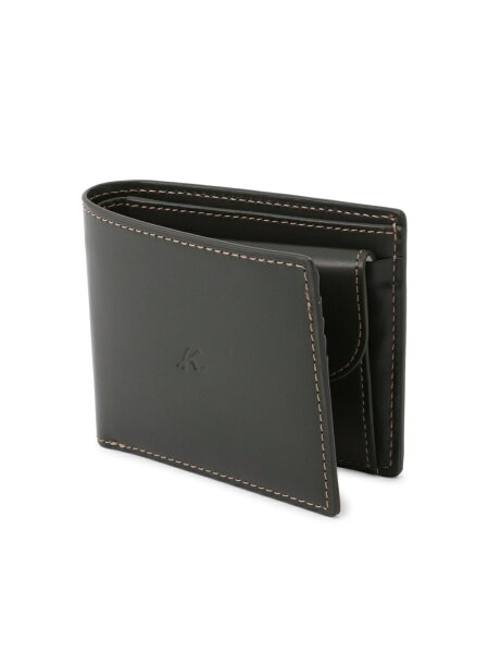 Kitamura(M)二折財布ZH0072キタムラ財布/小物財布カーキネイビーブラウンブラック