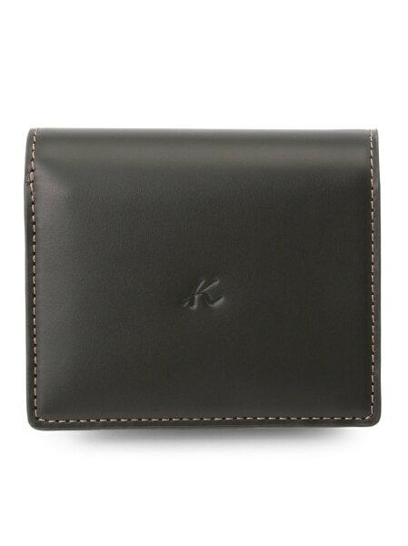 Kitamura(M)二折財布ZH0128キタムラ財布/小物財布カーキネイビーブラウンブラック