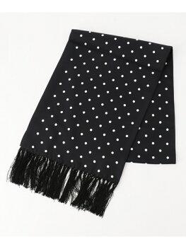 J. Press Reversible Dot Silk Scarf AA1LHW0305: Black