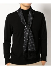 J. Press Reversible Dot Silk Scarf AA1LHW0305: Black