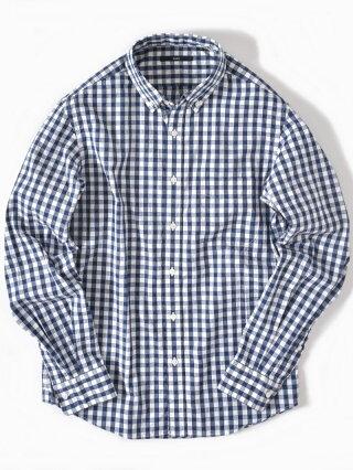 SHIPS SC:ドビーギンガムチェックボタンダウンシャツ19FW シップス シャツ/ブラウス 長袖シャツ ネイビー グレー ブラウン パープル【送料無料】