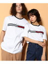 【SALE/20%OFF】TOMMY HILFIGER TOMMY HILFIGER(トミーヒルフィガー) トミーヒルフィガーロゴTシャツ/TINO TEE ロゴ Tee カットソー 半袖 Tシャツ メンズ トミーヒルフィガー カットソー Tシャツ ホワイト グレー 【RBA_E】【送料無料】