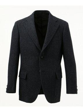 J. Press Laverock Tweed 3 Button Sack Sportcoat BROVYW0004: Navy