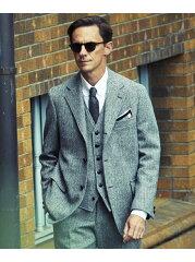 J. Press Laverock Tweed 3 Button Sack Sportcoat BROVYW0004: Grey