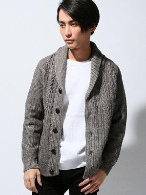【50%OFF】HARE (M)ケーブルニットCD/LS ハレ【RBA_S】【RBA_E】