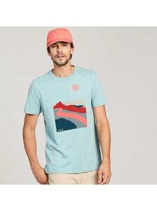 【SALE/50%OFF】AIGLE スカマンドロス エーグル カットソー Tシャツ ブルー ホワイト【RBA_E】