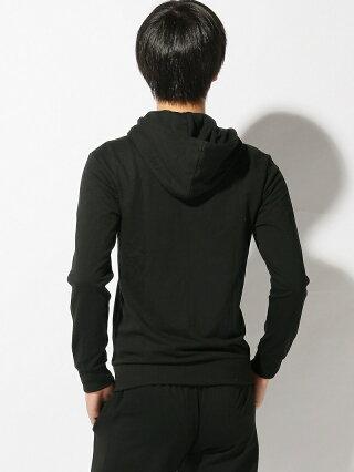 【SALE/40%OFF】Calvin Klein Underwear (M) カルバン クライン MONOGRAM フルジップ スウェット パーカー カルバン・クライン カットソー パーカー ブラック グレー【RBA_E】【送料無料】