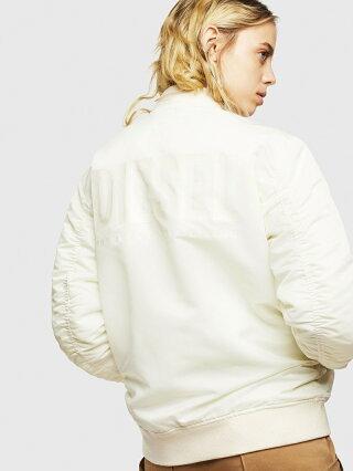 DIESEL J-ROSS-REV ディーゼル コート/ジャケット ミリタリージャケット ホワイト ブラック【送料無料】