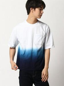 【SALE/70%OFF】ADPOSION ADPOSION/(M)【WEB限定】グラデーションTシャツ テットオム カットソー Tシャツ ネイビー ブラウン ホワイト【RBA_E】