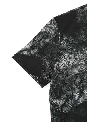 【SALE/30%OFF】TORNADO MART TORNADOMART∴パッチワークパイソンプリントTシャツ トルネードマート カットソー カットソーその他 ブラック ホワイト【RBA_E】【送料無料】