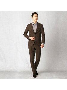COMME CA MEN トリクシオンパッカブルスーツ コムサメン ビジネス/フォーマル スーツ ブラウン ネイビー【送料無料】