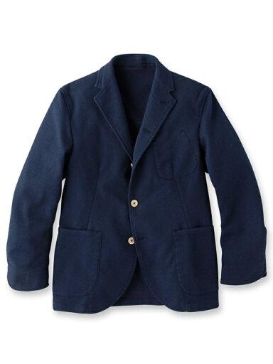 Dobby Cloth Jacket 086-48501: Navy