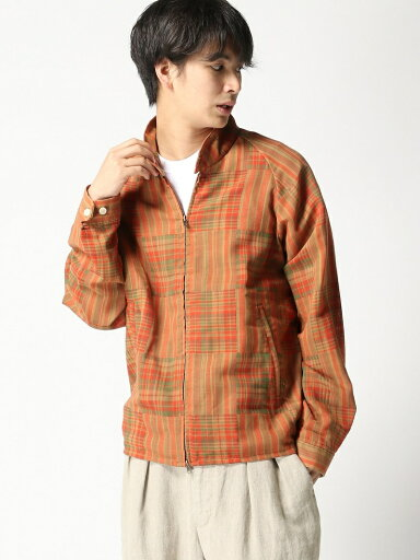 Check Blouson 11-18-4453-139: Orange