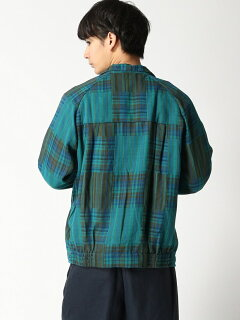 Check Blouson 11-18-4453-139: Green