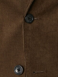 Corduroy 2-button Jacket 3222-186-0303: Brown