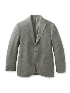 Cotton Raschel Knit Jacket 086-48001: Grey