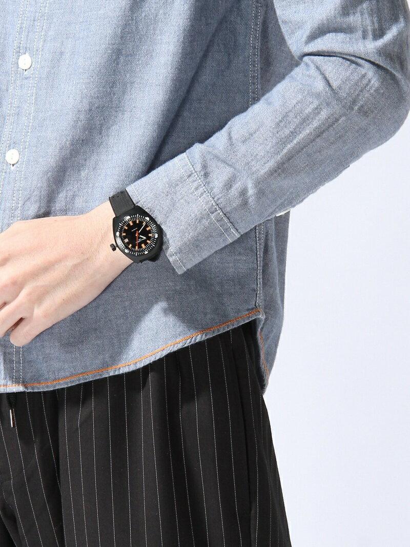 BEAMS MEN WILLIAM L / AUTO DIVE ウォッチ ラバーベルト ビームス メン ファッショングッズ