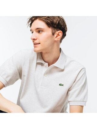 LACOSTE 『L1264』定番半袖ポロシャツ(杢糸) ラコステ カットソー ポロシャツ グリーン【送料無料】