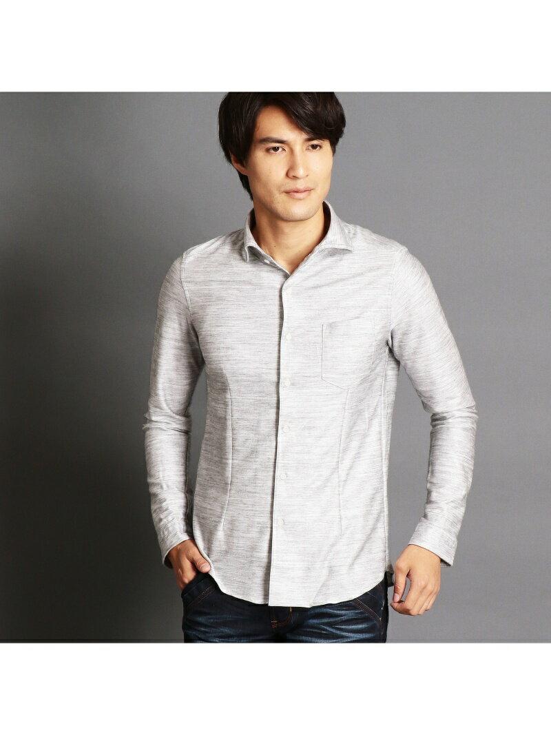 【SALE/73%OFF】NICOLE CLUB FOR MEN ホリゾンタルカラーシャツ ニコル シャツ/ブラウス 長袖シャツ グレー ベージュ ブラック ネイビー【RBA_E】