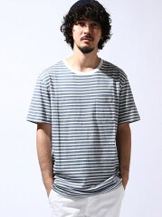 SILAS メンズ カットソー サイラス【送料無料】SILAS SS BORDER PKT TEE サイラス