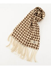 J. Press Fine Pattern Silk Scarf AA1LYM0311: Ivory