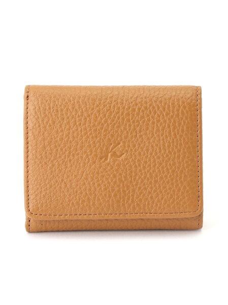 Kitamura(M)三折財布ZH0427キタムラ財布/小物財布ブラウングレーブラックレッド