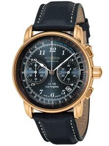 Zeppelin (M)LZ126 LOSANGELES ロサンゼルス 76163 ネイビー 42mm ツェッペリン ファッショングッズ 腕時計 ネイビー【送料無料】